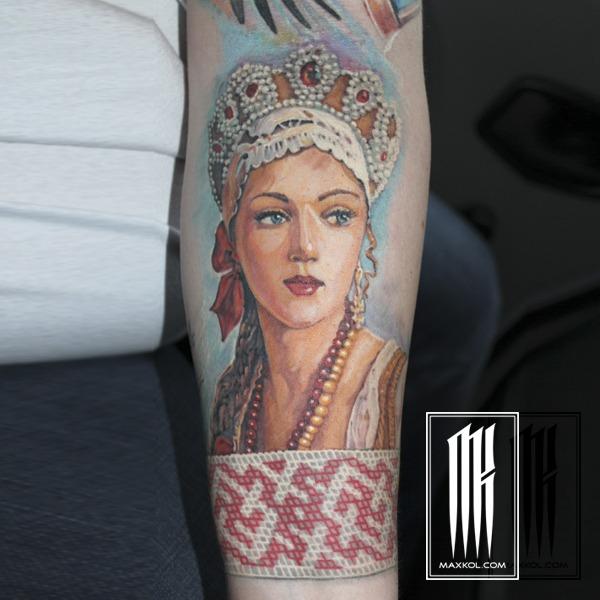 портрет русской красавицы