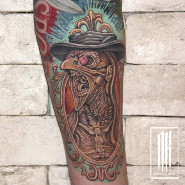 татуировка чумной доктор