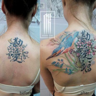 исправление и перекрытие татуировки