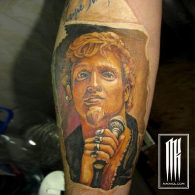 татуировка на руке портрет