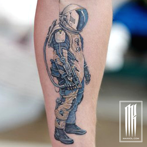 татуировка космонавт