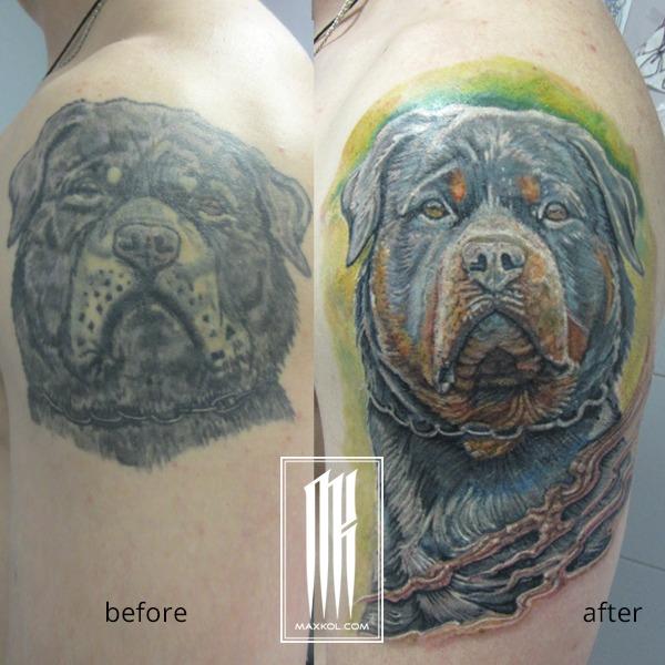 исправление плохих татуировок