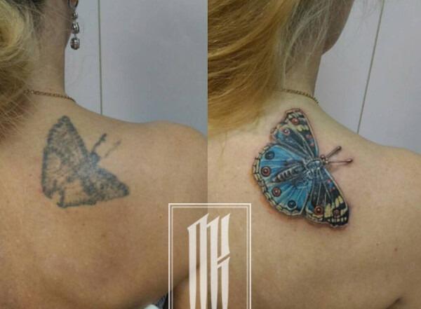 исправить татуировку
