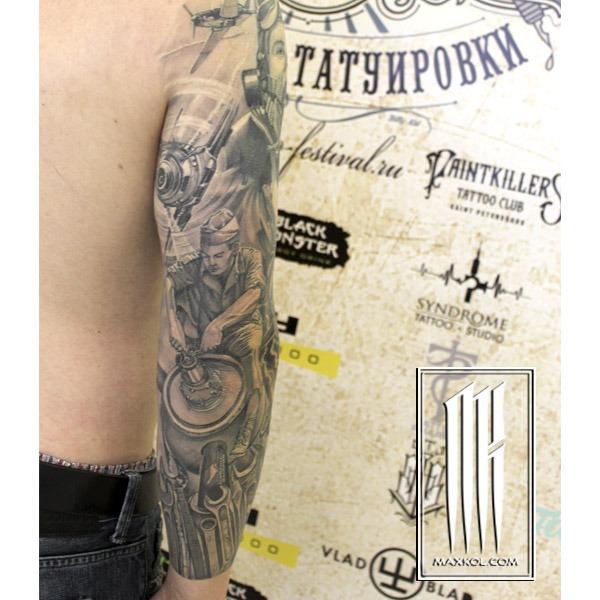 сделать военную татуировку