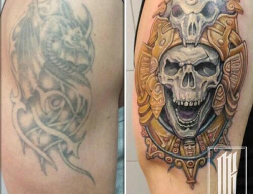 Перекрытие татуировки