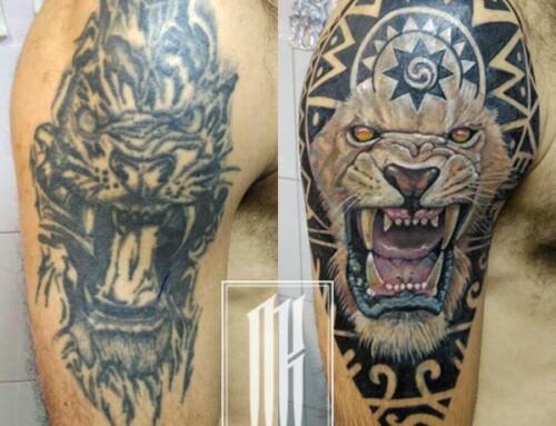 Исправление армейской татуировки
