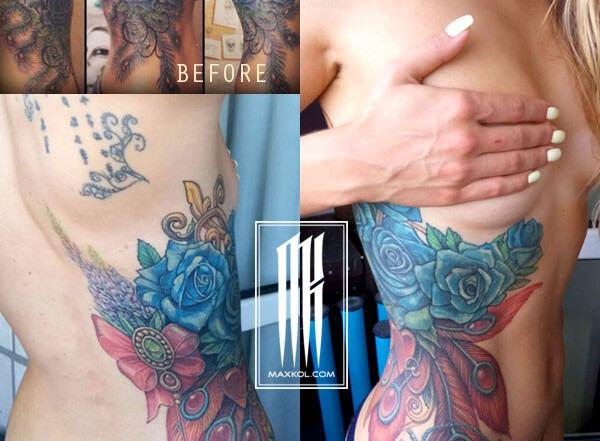 исправление татуировки