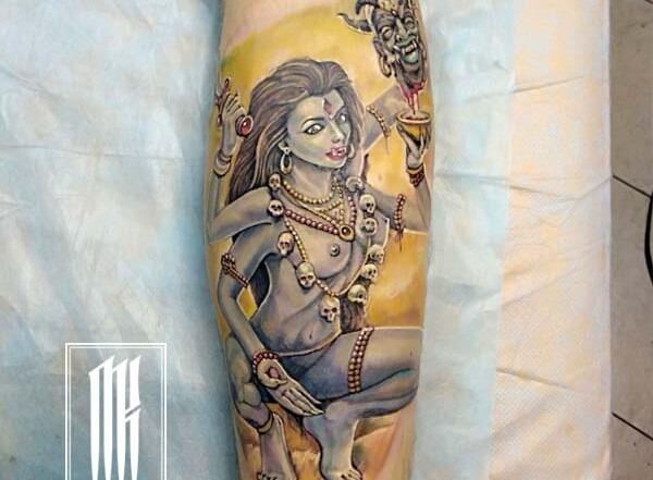 татуировка цветная