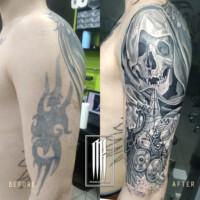 иправление татуировки на руке