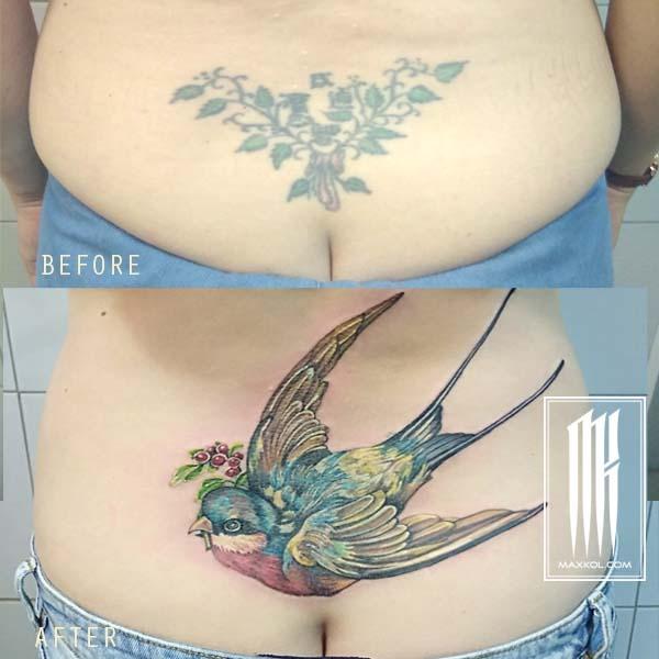 Женские татуировки исправление