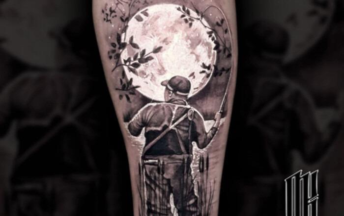 татуировка рыбак