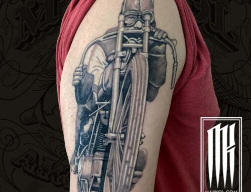Татуировка мотоциклиста