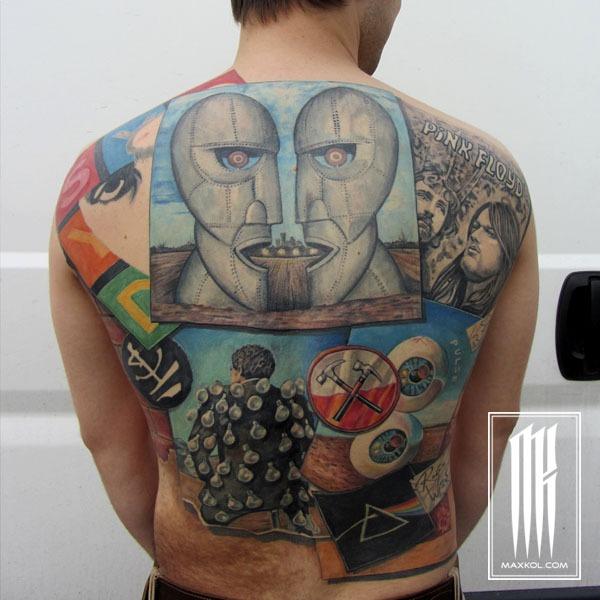 Цветная тату на спине