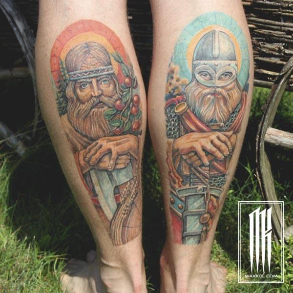 Исправление татуировки на ноге