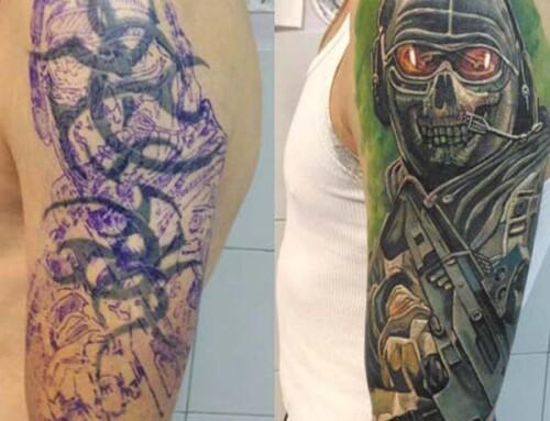 Перекрытие армейской татуировки