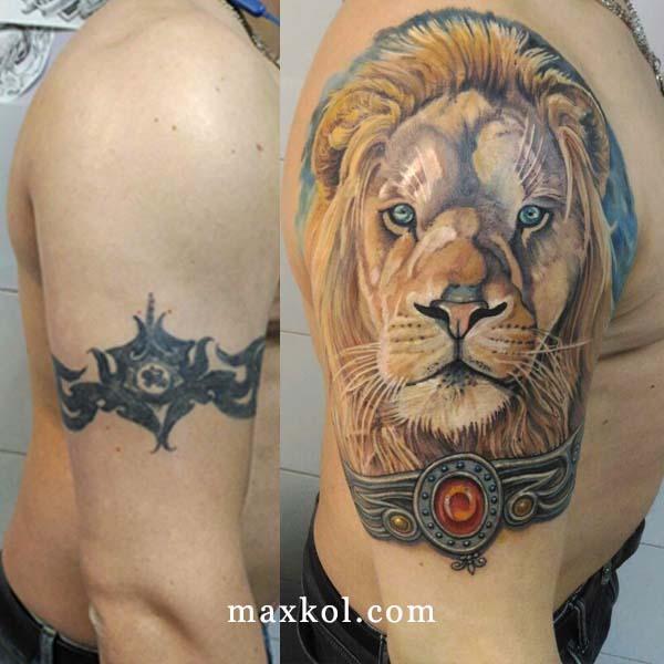 Исправление тату лев